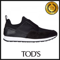 TOD'S Round Toe Rubber Sole Casual Style Suede Plain