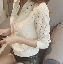 Short Flower Patterns Casual Style Blended Fabrics Jackets