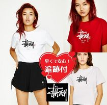 STUSSY Short Casual Style Street Style Cotton Short Sleeves Cropped