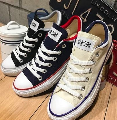 b60767c739f8 ... CONVERSE Low-Top Rubber Sole Casual Style Unisex Street Style Plain ...