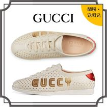 GUCCI Star Round Toe Rubber Sole Lace-up Casual Style