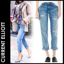 Current Elliott Casual Style Denim Street Style Plain Medium