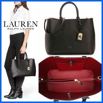 Ralph Lauren A4 2WAY Plain Leather Totes