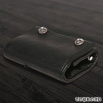 CHROME HEARTS Street Style Plain Leather Folding Wallets