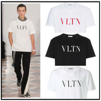 VALENTINO Crew Neck Street Style Cotton Short Sleeves