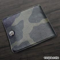 CHROME HEARTS Camouflage Street Style Leather Folding Wallets