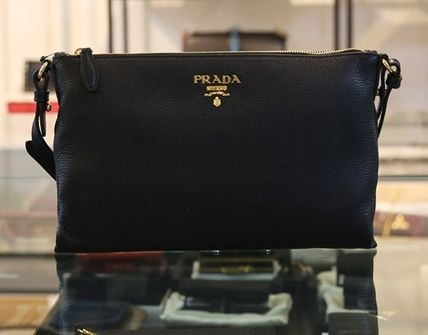 c4c453e3225a PRADA BIBLIOTHEQUE 2018 SS Casual Style Plain Leather Shoulder Bags ...