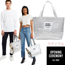 OPENING CEREMONY Casual Style Unisex Nylon Street Style Vanity Bags A4 Plain