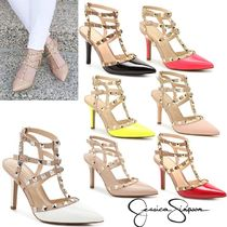 d8b089e1538 Jessica Simpson 2018 SS Faux Fur Studded Plain Pin Heels Pointed Toe Pumps    Mules by Spud - BUYMA