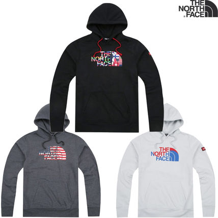 THE NORTH FACE Hoodies Long Sleeves Cotton Logos on the Sleeves Hoodies