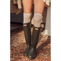 HUNTER Casual Style Plain Flat Boots
