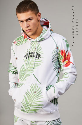 CRIMINAL DAMAGE Hoodies Pullovers Tropical Patterns Sweat Street Style Long Sleeves