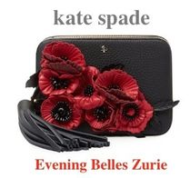 kate spade new york Madison avenue collection Flower Patterns Tassel Bi-color Leather With Jewels