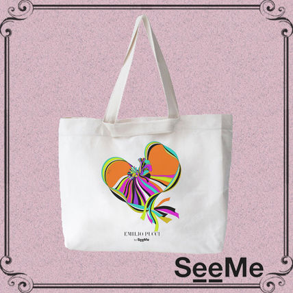 Casual Style Collaboration Handmade Totes