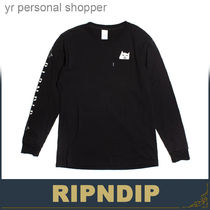 RIPNDIP Crew Neck Street Style Long Sleeves Other Animal Patterns