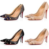 Christian Louboutin Plain Leather High Heel Pumps & Mules