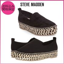 Steve Madden Platform Casual Style Suede Plain Slip-On Shoes