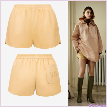 Short Casual Style Plain Leather
