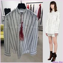 MSGM Stripes Casual Style Bi-color Long Sleeves Cotton Medium