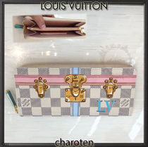 Louis Vuitton DAMIER AZUR Other Check Patterns Canvas Long Wallets