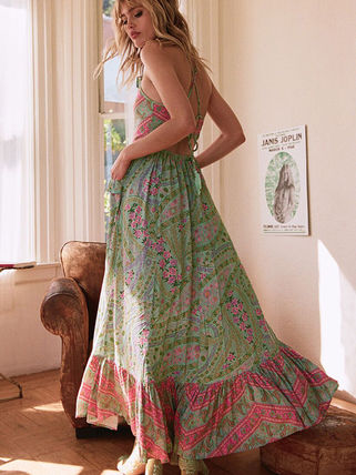 Flower Patterns Star Long Dresses