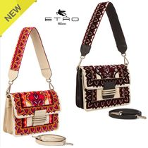 ETRO Heart 2WAY Elegant Style Shoulder Bags