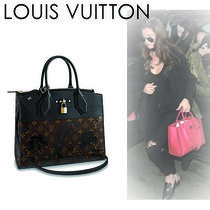 Louis Vuitton CITY STEAMER Monogram Casual Style Canvas A4 2WAY Handbags