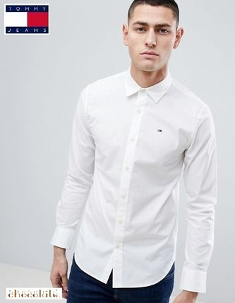 Tommy Hilfiger Shirts Button-down Street Style Long Sleeves Plain Cotton Shirts