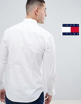 Tommy Hilfiger Shirts Button-down Street Style Long Sleeves Plain Cotton Shirts 2