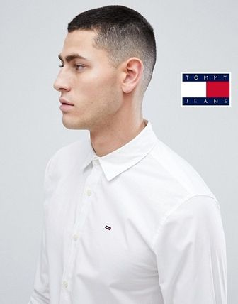 Tommy Hilfiger Shirts Button-down Street Style Long Sleeves Plain Cotton Shirts 3