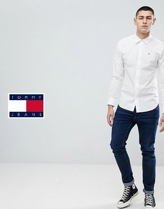 Tommy Hilfiger Shirts Button-down Street Style Long Sleeves Plain Cotton Shirts 4