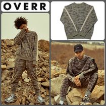 OVERR Camouflage Long Sleeves Cotton Oversized Shirts