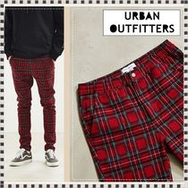 Urban Outfitters Tartan Cotton Skinny Fit Pants