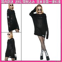DOLLS KILL Casual Style Long Sleeves Plain Medium Oversized Sweaters