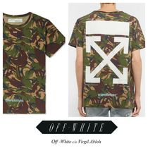 Off-White Camouflage Street Style Plain Short Sleeves Shirts