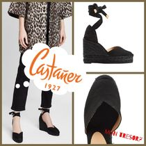 Castaner Round Toe Casual Style Plain Platform & Wedge Sandals