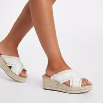River Island Open Toe Casual Style Platform & Wedge Sandals