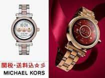 Michael Kors Round Quartz Watches Stainless Office Style Digital Watches