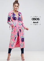 ASOS Flower Patterns Casual Style Long Jackets