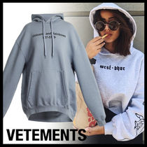 VETEMENTS Casual Style Plain Long Oversized Super-long Sleeves