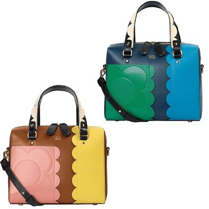 Orla Kiely Handbags Flower Patterns 2way Leather