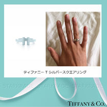 Tiffany & Co Tiffany T Silver Elegant Style Rings