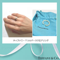 Tiffany & Co Tiffany T Silver Elegant Style Pinkie Ring Rings