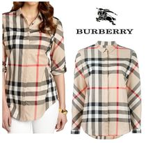 Burberry Other Check Patterns Cotton Shirts & Blouses