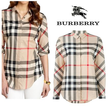 Other Check Patterns Cotton Shirts & Blouses