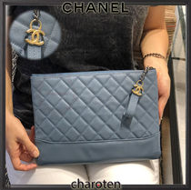 CHANEL TIMELESS CLASSICS Bag in Bag 2WAY Plain Leather Elegant Style Clutches