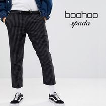 boohoo Stripes Street Style Cropped Pants