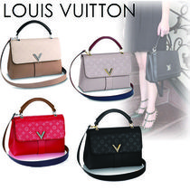 Louis Vuitton Monogram Casual Style Blended Fabrics 2WAY Plain Leather
