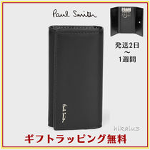 Paul Smith Stripes Unisex Plain Leather Keychains & Holders