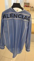 BALENCIAGA Stripes Street Style Long Shirts & Blouses